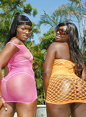 Check out these hot ebony babes they are smokin hot cum watch free sex pool side orgies