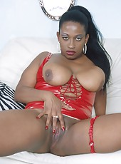 Fiery hot ebony slut getting her ass slammed