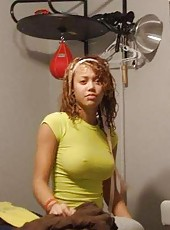 Photo gallery of a sexy amateur mulatto honey