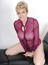 See thru blouse milf