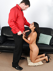 33 year old Bianca Mendoza gets her pussy shafted by younger cock