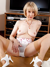 Forget the TV, check out mature Hazel