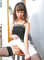 Anna R is out to play again with her sexy stockings. She
