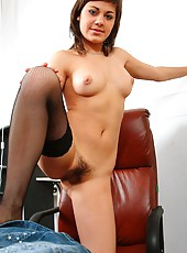You are the boss of beautiful & hairy Alena. Don