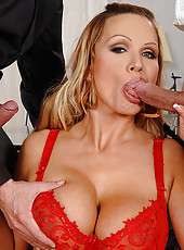 Hot Sharon Pink gets double pounded