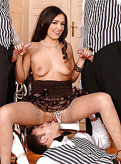 Juliana filled airtight with cock
