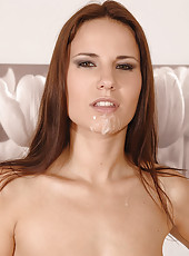 Hot Claudia Rossi doing hot blowjob