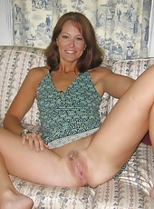 Gallery of a hot sexy MILF posing sleazy for her husband