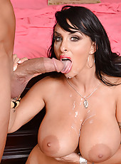 Holly Halston is a hot and horny milf who decides to fuck one of her son