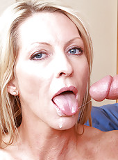 Emma Starr has hot sex with one of her sons friends and loves being fucked on the ground by him.