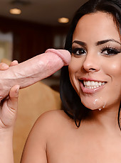 Luna Star is horny for some big married cock in her mouth and in her pussy so she seduces one lucky guy.
