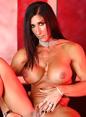 Elisa Ann Costa shows off her big strong hot powerful muscles as she strips.