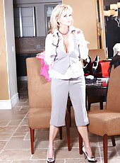 Rachel Aziani in Business Suit.