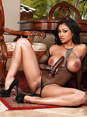 Sexy see thru lingerie and a big black cock is just what sexy Indian Priya Anjali Rai wanted.