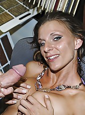 Hot milf looking to buy a car get finger fucked and cumfaced by finance manager