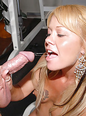 Hot big tits hot ass workout milf gets fucked hard on the bench in these hot gym fucking cumfaced fuck pics