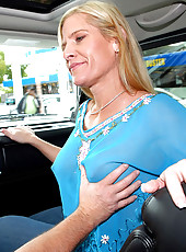 Check out the milf hunter pick  up a hot piece of ass when her car breaks down at the gas station in these hot reality pics