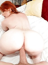 Reinia gave him an excellent blow job and then took his hard cock for a ride and tony stroked her tight pussy and eventually shot his load all over her melons