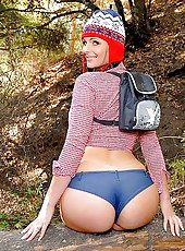 Pheonix goes for a brisk hike gets picked up and pounded on the trail in these pics