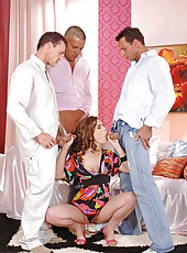 Johane Johansson fucking with 3 men