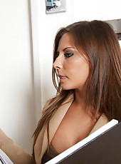 Hot worker Madison Ivy cant help but get distracted and have rough sex.