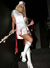 Gina Lynn strips a nurse uniform