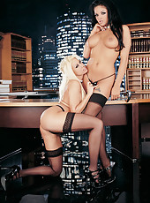 Gina Lynn in office sex action