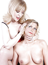 Nina Hartley and Lya Pink lesbian