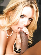 Blonde secretary Andrea Acosta banged hard in office by black guy