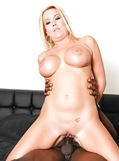 Blonde mom Tara Star like big black cock in her tight pussy