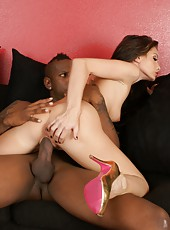 Superb big titted pornstar Randi Wright banged hard by big black cock