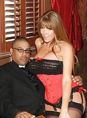 Two hot milf sluts Darla Crane and Veronica Avluv service black guy with huge cock