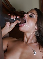 Sexy milf Cathy Heaven deepthroat and assfucked by huge black cock