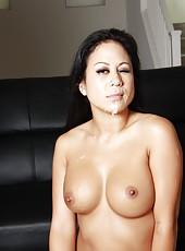 Asian milf Kayme Kai open tight oriental pussy for huge african cock