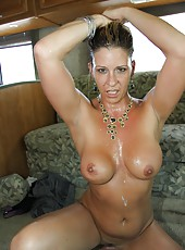 Great-body milf Phyllisha Ann with perfect ass riding black cock on sofa