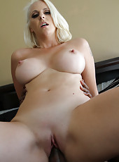 Blonde Mandy Sweet fuck with black businessmen for money