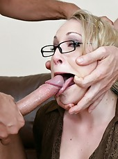 Hardcore threesome fuck with a horny and hot blonde milf  Harmony Rose