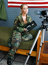Camouflage uniform hides a lot of sweet fuckable things by horny Nicole Aniston