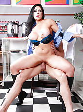 Fantastic action with horny cop Audrey Bitoni, Honey White and her boyfriend
