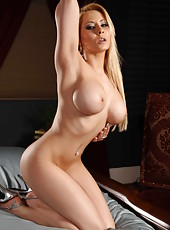 Excellent looking blonde bombshell Madison Ivy spreading her beautiful charms