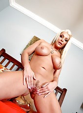 Blue eyes blonde milf with beautiful blue eyes and big natural boobs Sadie Swede