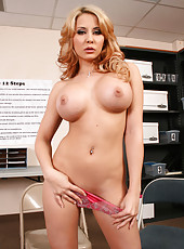 Sweet Madison Ivy and her super sweet big tits, shaved pussy and hot ass