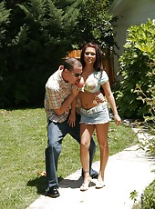 Gentle and hot slut Eva Angelina craves a crazy fuck with her new friend