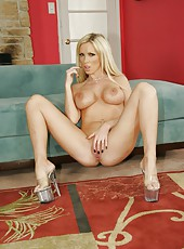 Teen milf Nikki Benz shows her pussy and masturbates with her fingers