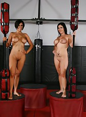 Fantastic black haired milfs with hot big breasts Claire Dames and Dylan Ryder