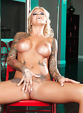 Extremely maddening blonde with hot tattoos Britney Shannon makes us wild
