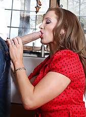 Rebecca Moore seduces her neighbour with big dick for a wild fuck