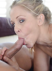 Blonde Julia Ann and brunette Mandy Sky in the threesome anal adventure