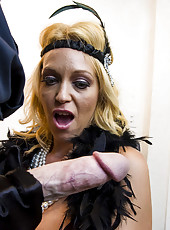 Super horny buxom blonde Charlee Chase and her unstoppable blowjob skills