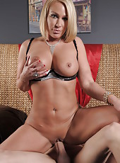 Extra delicious blonde milf with big boobs Mellanie Monroe meets a dick